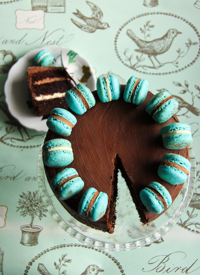 triple_chocolate_cake ~ via stephcookie
