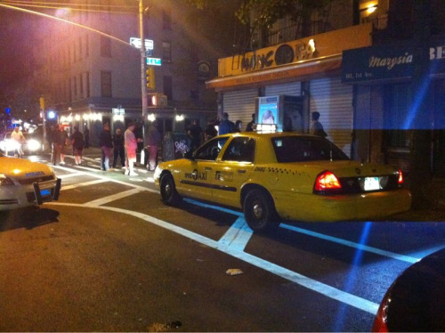 neighborhoodr-eastvillage:  You ever see an undercover taxi cab? Sneaky, sneaky, NYPD. On 1st Ave & 6th St. 4 AM  best idea ever NYPD.
