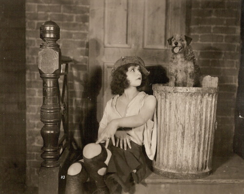 Clara Bow in a film still for Grit (1924) Image Source: Clara Bow Archive