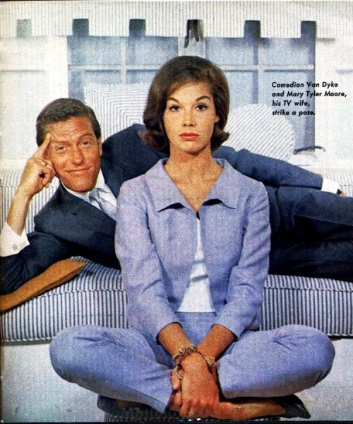 Mary Tyler Moore & Dick Van Dyke from a TV Guide story