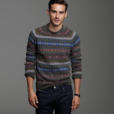 Lambswool Aberdeen Fair Isle Sweater, J Crew, $98