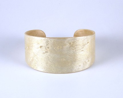 White Dyed Birdseye Maple Wood Bracelet medium by bentonwood