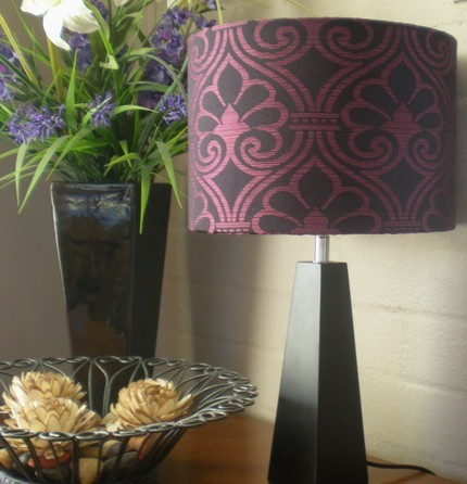 Beaurtiful Black and Pink Lamp by anelementofstyle on Etsy