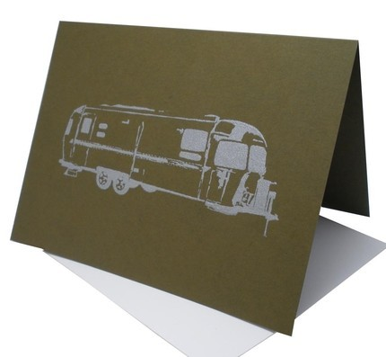 Airstream Blank Card Kelp Green by OrangeTwist on Etsy