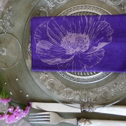 Set of 2 Linen Napkins by bloomsong on Etsy