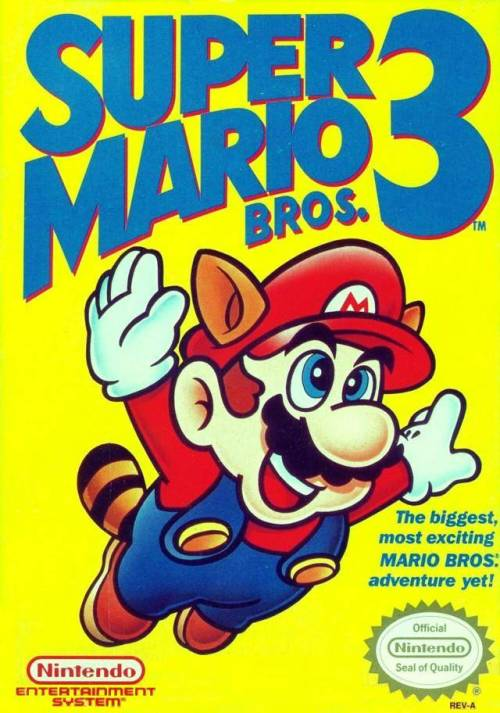 Super Mario Bros. 3 - released in 1990 Hailed as one of the best Mario games of all time, and for good reason, too. Mario's third adventure pitted him in many worlds, and featured a clever item system that aided the plumber along the way. Frog suits and raccoon suits were just the beginning of Mario's fashion collection, and each item in the game served a valuable purpose. A warp whistle allowed Mario to skip levels, the music box put hammer bros. to sleep and a giant boot allowed Mario to bounce through levels with ease. Sure, the story isn't much different, Bowser has kidnapped Princess Peach again, but seriously, does that ever get old? Truthfully, it's the game play that matters, and Mario does not disappoint.