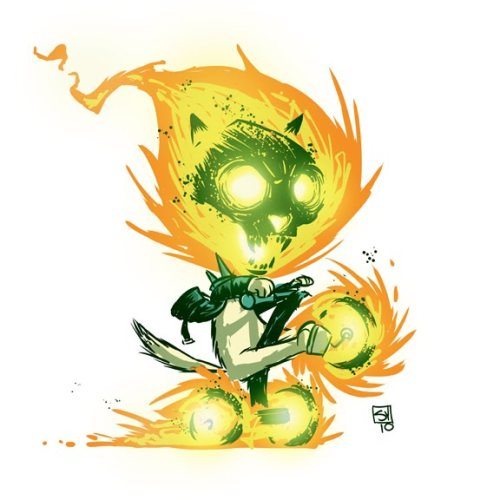 Ghost Kitty Rider by Skottie Young.