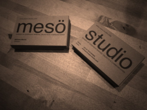 Hot off the press! The NEW Mesö Studio business cards :-)