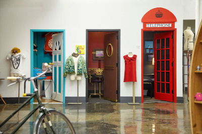 lalswemel:  The Etsy Office  I will be making a door entrance into a London phone booth!