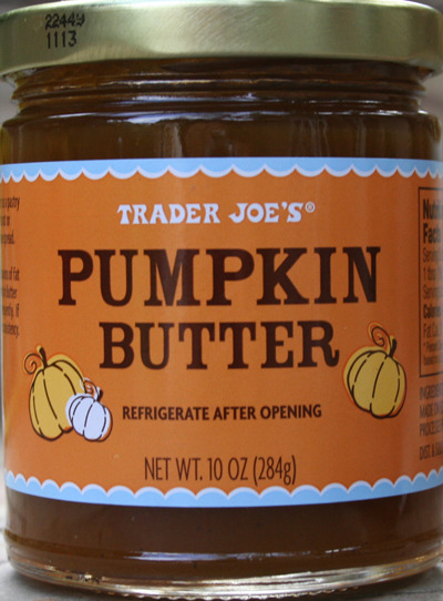 I think this pumpkin butter is laced with crack, it is seriously so good haha. I bought it yesterday when I was at Trader Joe's for some other stuff, and it is so.fucking.delicious. It's like eating a pumpkin pie on toast. And it's got a lot less calories than regular nut butters (which are also crack, I love them so), so I can have a little more without feeling too guilty huzzah. Anyway, I start school next Monday, so next weekend I plan on doing a Back-to-School stats post. :)