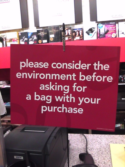 Haha I love how blunt this sign is!  Out of the many Borders I shop at, only the one in Alameda has this sign!  A while ago, I remember when Borders required a paper copy of the coupon they send via email.  FINALLY, nowadays, you can show the coupon on your phone and they'll accept it!  Technically, you only need to provide the coupon code, and that'll be enough! <3 Borders.