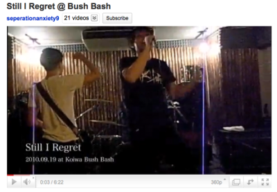 bonesnigga:  YouTube - Still I Regret @ Bush Bash
