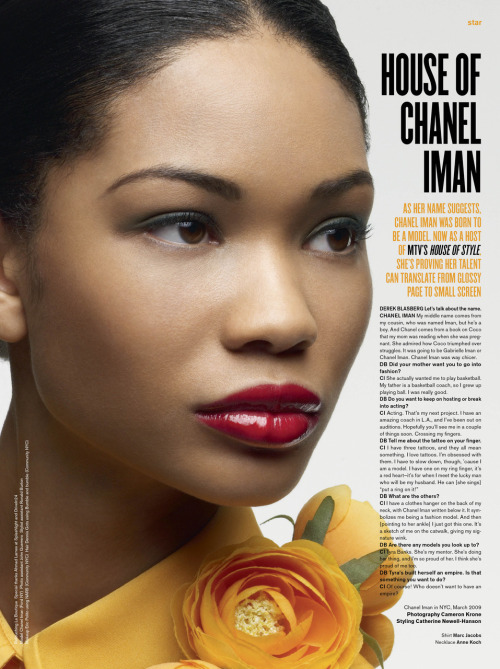 Chanel Iman for V Magazine
