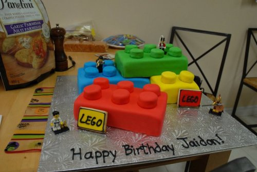 Rainbow Chip Lego Birthday Cake made by @ericalchang of Chang & Bake. Submitted by wordlessness