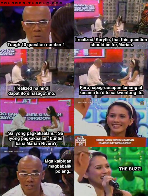 palabas:  The Buzz (December 14, 2008, ABS-CBN)  Haha, I've watched this episode.
