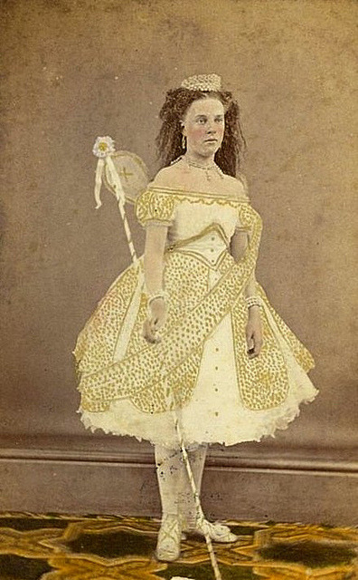Unidentified performer as a Fairy, ca. 1870 / photographer W. Bear, Prahran Portrait Rooms, Melbourne (by State Library of New South Wales)