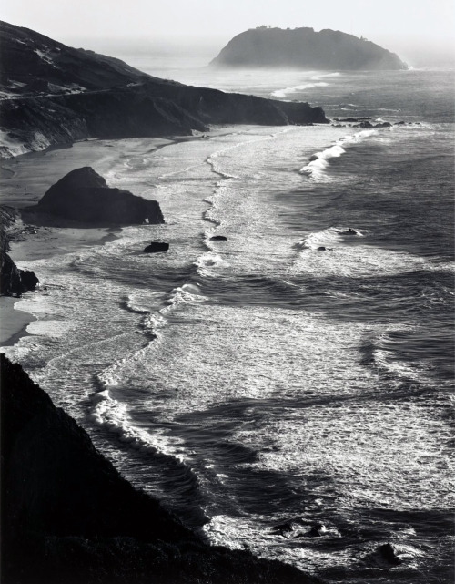 parkstepp:   Ansel Adams, Storm, Point Sur, Monterey coast CA, 1942 from melisaki  crashinglybeautiful