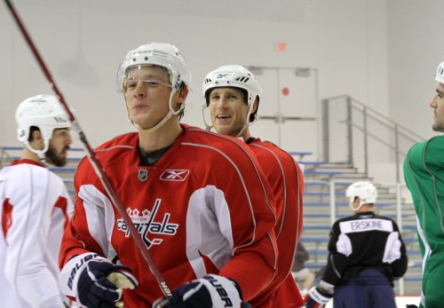 Laich and Semin, Washington Capitals scrimmage, Sept 20, 2010