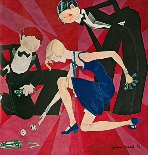 """Faded Blonde"" - (1928) Artist:  John Held, Jr."