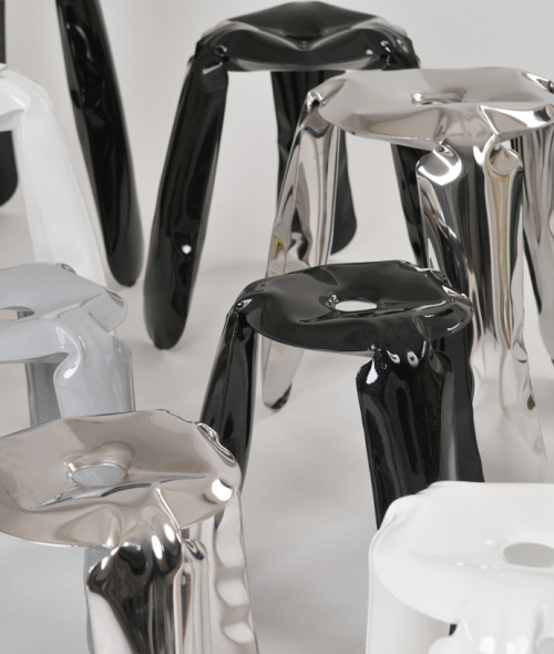 Plopp family of stools by Zieta Prozessdesign via Design Milk