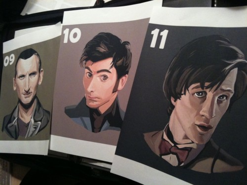 Doctor Who The NuWho Trio by bradcollins on Etsy