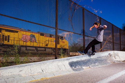 skateaztimemachine:  Levi Brown - Front Feeble photo: Bush  Levi Brown - Front Feeble - Tucson, AZ 2008