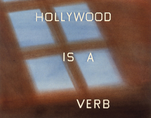 Ed Ruscha Hollywood is a Verb