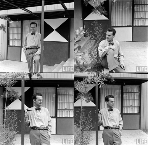 Here are some great shots of Charles Eames from the LIFE Photo Archive.Explore the LIFE Photo Archive yourself.
