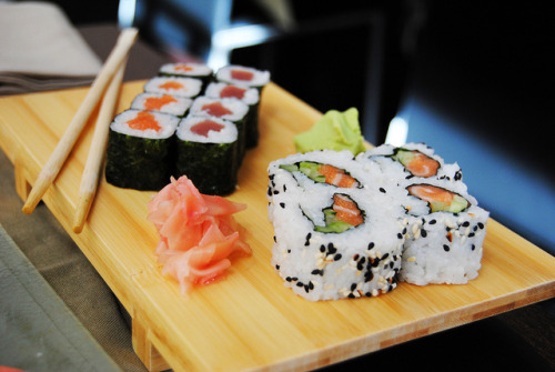 orgasmicfood:  sushi again.