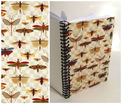 Bugs on Grid  Plain Notebook 5 x 7 by Ciaffi on Etsy