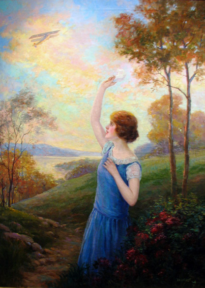 """Waving Goodbye"" - (1925) Artist:  F.R. Harper   (Via Grapefruit Moon Gallery)"