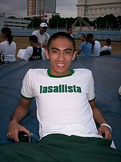 "Another ""lesser"" known athlete in the La Salle community, but made a name for himself nationwide. Ralph Waldy Soguilon was nicknamed the Fastest Man in Asia a couple of years back. And yes. He's Lasallista."