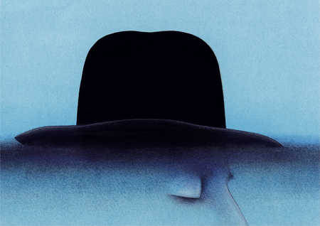 Illustration of man wearing hatArtist: Wieslaw Rosocha  http://www.poster.com.pl/rosocha-prints.htm