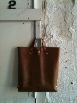 New all leather tote. Almost finished.