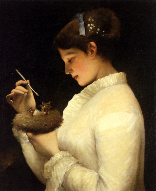 nends: James Sant (1820-1916) ~ Feeding the Chicks