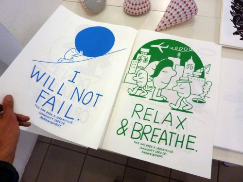"""Relax & Breathe"" this is another @jeremyville community service announcement. View more in Paris! 21st september, till 9th October 2010, Parsons Paris School of Art and Design. 14 Rue Letellier, 75015 Paris."