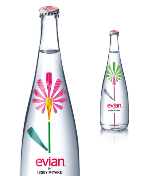 karenh:Issey Miyake collaborates with Evian for new limited edition designer bottle design.(via lovely package via luxist)
