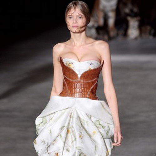fringefashion:  Love this corset by Alexander McQueen  Beautiful.