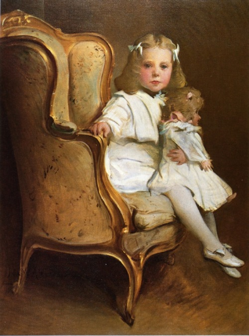 "dollhood:  ""Portrait of a Young Girl with Her Doll"" (1901) by John White Alexander (American, 7 October 1856 – 31 May 1915) via: http://www.the-athenaeum.org/art/full.php?ID=33125"