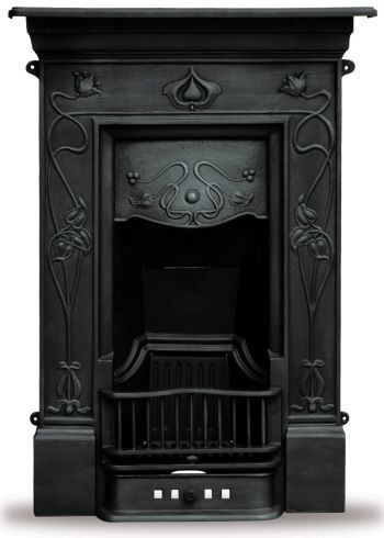 Gorgeous narrow styled cast iron fireplaces. Amazing site!