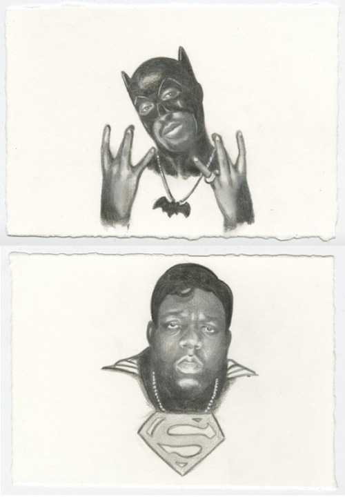 ratsoff:  Tupac Batman and Biggie Superman from My God, It's Good to See You: Paintings by Steve Seeley. More bad assery here.  (via twbe)  Just googled Tupac Batman for some reason, found this. Thought you guys should see it…