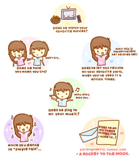 saranghae012:  Does he do all these things, like I used to…?  - A Rocket To The Moon: Like We Used To