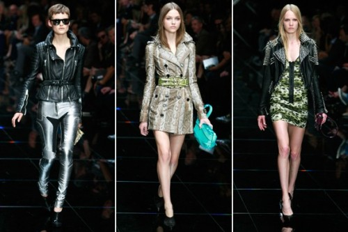 "Burberry Prorsum Spring 2011 Review DESIGNER: Christopher Bailey for BurberryINSPIRATION: The title of the collection with ""Heritage Biker"", taking Thomas Burberry's designs for England's first motorbike riders in the early 1900s as the starting point.TOP LOOKS: Last season, it was Bailey's shearling aviators that got the audience cooing – and in the six months that have followed, the high street has spawned numerous versions. Full review on StyleList after the jump. [Photos: Getty Images.]"