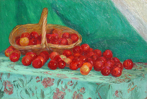 A. Venturino Still Life with Plums 1920-30