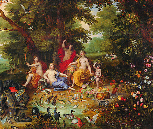 Jan Brueghel the Younger An Allegory of the Four Elements (detail) 1630