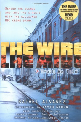 "The most intriguing phrase Simon has used regarding The Wire is  to say that it is about ""the death of work."" By this he means not just  the loss of jobs, though there certainly is that, but the loss of  integrity within our systems of work, the ""juking of stats,"" the  speaking of truth to power having been replaced with speaking what is  most self-serving and pleasing to the higher-ups. In a poker game with  the mayor, one folds on a flush to allow the mayor to win. (As opposed  to the freelance stickup man Omar, who, beholden to no one, shows up at  at a kingpin's poker night with two pistols and the Dennis Lehane line  ""I believe these four 5s beat your full house."") Police departments  manipulate their stats for the politicians; schools do the same;  newspapers fake stories with their eye on prizes and stockholders.  Moreover, in the world of The Wire almost everyone who tries to  buck the system and do right is punished, often severely and grotesquely  and heartbreakingly. Accommodation is survival at the most basic level,  although it is also lethal to the soul.  yes. want this book. oh and this one, too.  they're both mentioned in the above-linked ""review"" which is really a phenomenal essay about The Wire written by Lorrie Moore, who has written many fine things, including one of my favorite short stories (link is an abstract, so don't click if you hate spoilers)."