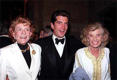 jfk jr with his aunts. may they rest in peace