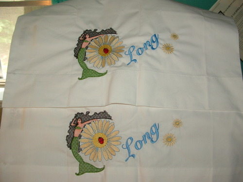 Finally, I get to give these pillowcases to the birthday girl tonight.  Her birthday was in August but I haven't seen her in awhile.  Our krewe meeting is tonight and I hope she is there.  I love the design and can't wait for her to open this gift.