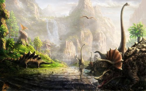 The land of dinosaurs by ~Fel-X