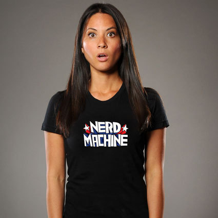 Olivia modeling for Zachary Levi's new website, The Nerd Machine